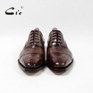 Image 4 - Cie Bespokeทำด้วยมือกึ่งb rogueเหรียญตารางนิ้วเท้า100%ลูกวัวแท้แต่งกายชายหนังฟอร์ดกู๊ดเยียร์เชื่อมผู้ชายรองเท้าOX 09