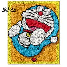 Rękodzieło dla domu tapijt zatrzask haka dywan na płótnie cartoon drukowanie vloerklee foamiran do needleworksets szydełkowanie przędzy tapis tanie i dobre opinie Kolorowe pudełko Mesh Fabric Europejski i amerykański styl Trójwymiarowy haftu serii Kolor Drukowane na Płótnie assort colors