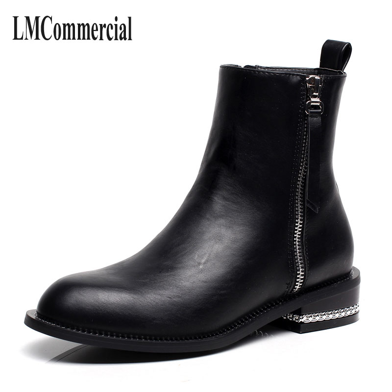 new winter women boots Chelsea girls with zipper flat with Korean fashion Martin single short boots women boots martin new winter with thick british style short canister female fall side zipper boots