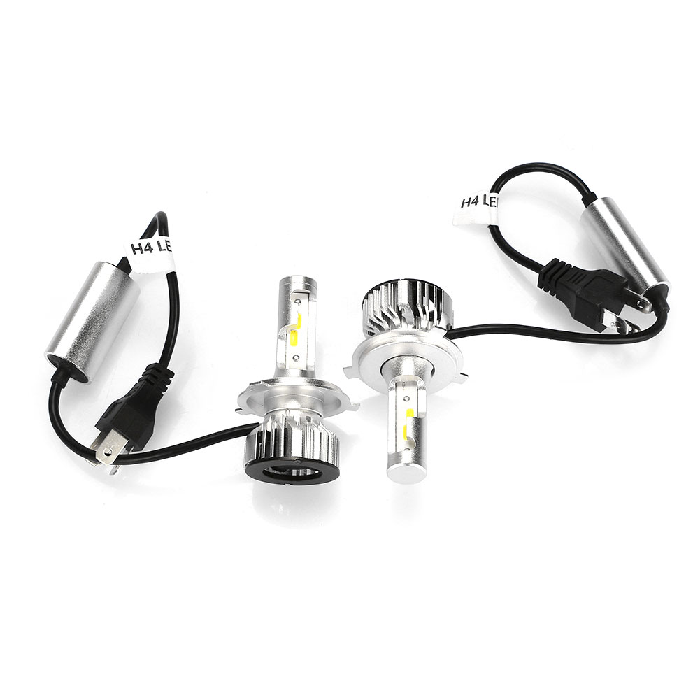 Vehemo H4 2 шт. светодиодный фонарь Передний фонарь безопасность Супер яркий сборка осветительного оборудования автомобильные аксессуары светодиодный фары дальнего света