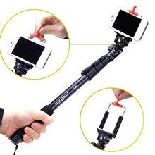 C-188 Handheld Selfie Vara Tripé Adaptador Monopé Com Telefone Clipe auto Suporte Para iPhone para Huawei para Go Pro DSLR câmera