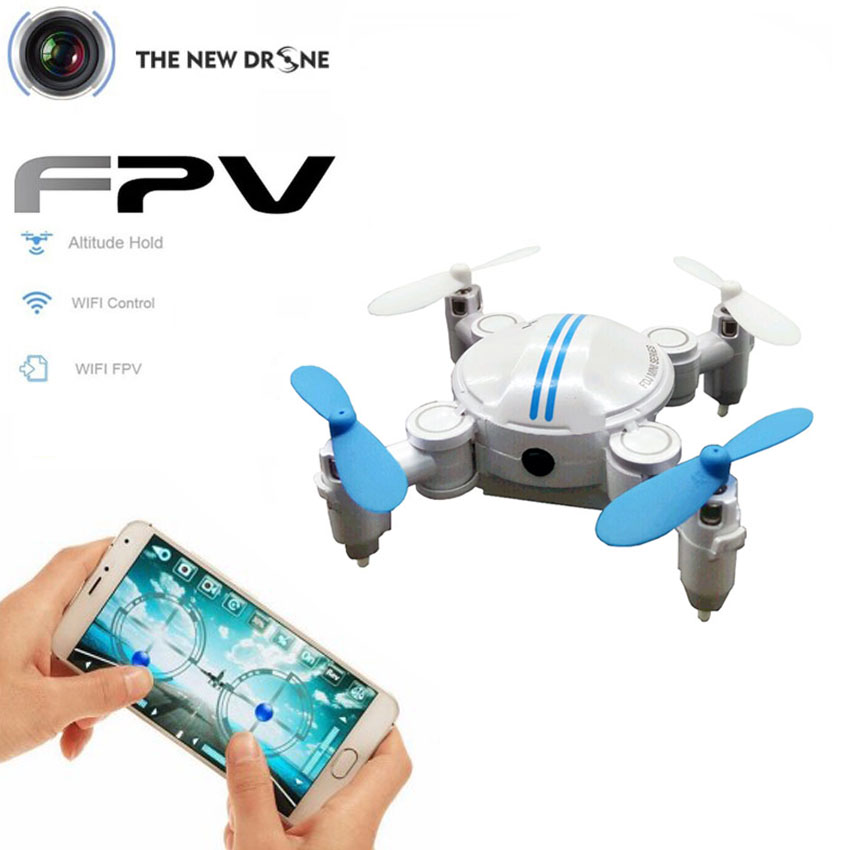 Vs h37 mini toys drone quadcopter con cámara wifi rc helicóptero de control remo
