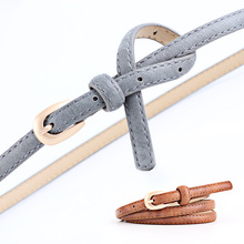 Candy Color Faux PU Leather Belts For Women Harajuku Elegant Female Thin Belt Dress Jeans Casual Metal Buckle Waist