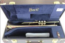 Бах Professional Level выгравированы LT190 L1B золото позолоченная труба Trumpete с оригинальный синий чехол