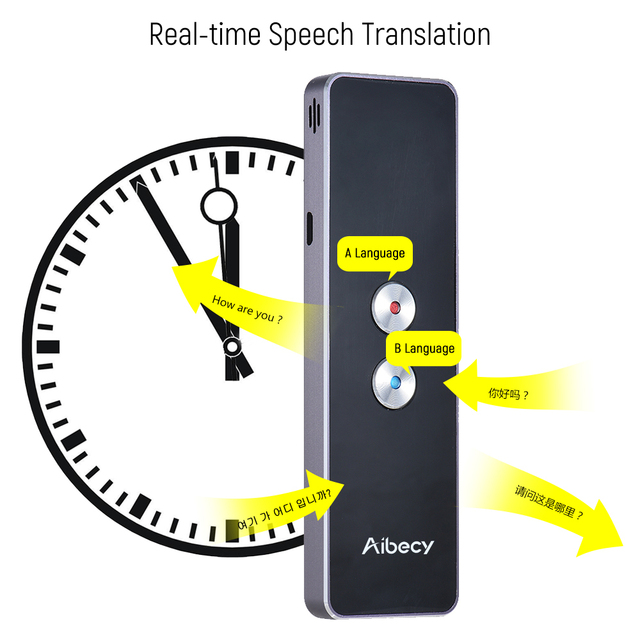 New Portable Smart language Translator Voice Instant Traductor Simultaneo for Learning Travel Meeting Support Above 30 languages
