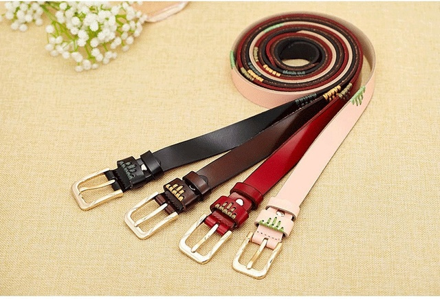 New Design Genuine Leather Belt Woman Belt Luxury 100% Cowhide Strap High Quality Belts For Female