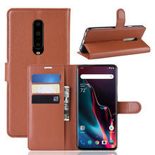 for OnePlus 7 Pro Case Soft PU Leather Kickstand Wallet Flip Case with Card Holder Fundas OnePlus 7 Pro Armor Protection Cover