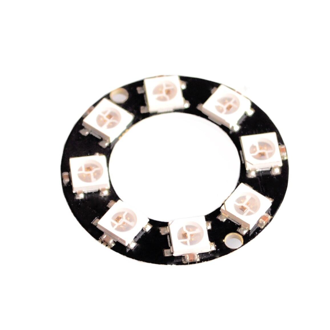 5 unids/lote 8 Bits 8 X WS2812 5050 RGB LED anillo de luz con Drivers integrados
