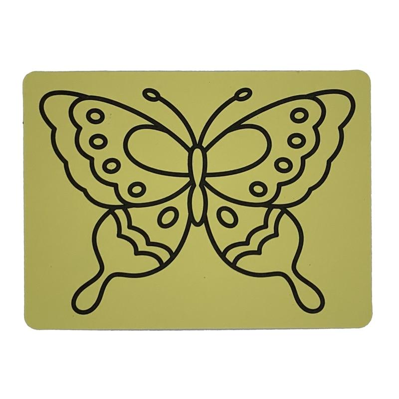 شحن مجاني 1000 قطعة A5 الأصفر ملصقا بطاقات للفن الرمل الاطفال حزب لعبة-في ألعاب الرسم من الألعاب والهوايات على  مجموعة 2