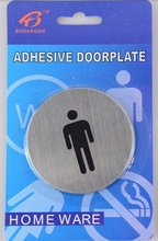 10Pcs/lot Diameter 6.7cm,430 stainless steel guide men signs free shipping