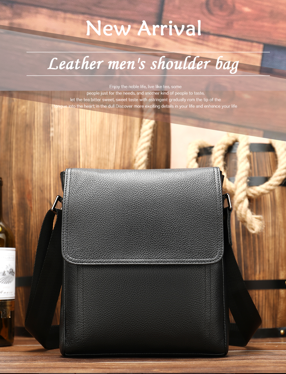1 Famous Brand Leather Messenger Men's Shoulder Bag Male Casual Business Crossbody Tote Bags for Men Small Flap Handbag bolsas