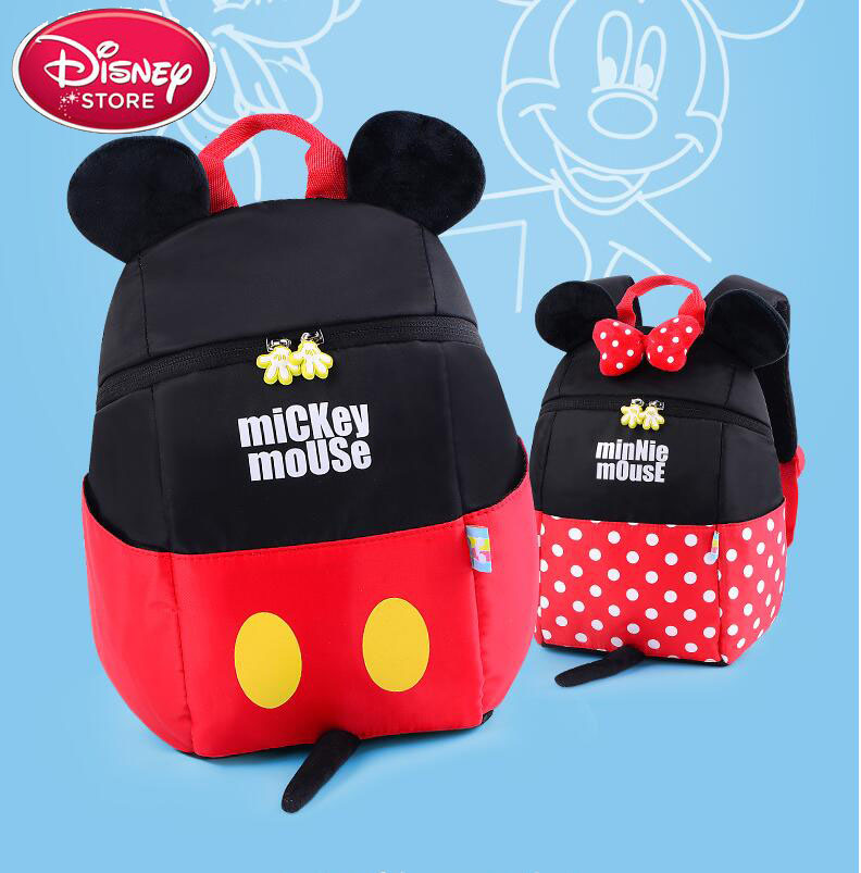 Disney  Minnie Boys And Girls Bag Kid Mummy Mickey Diaper Learning Multifunction Backpack