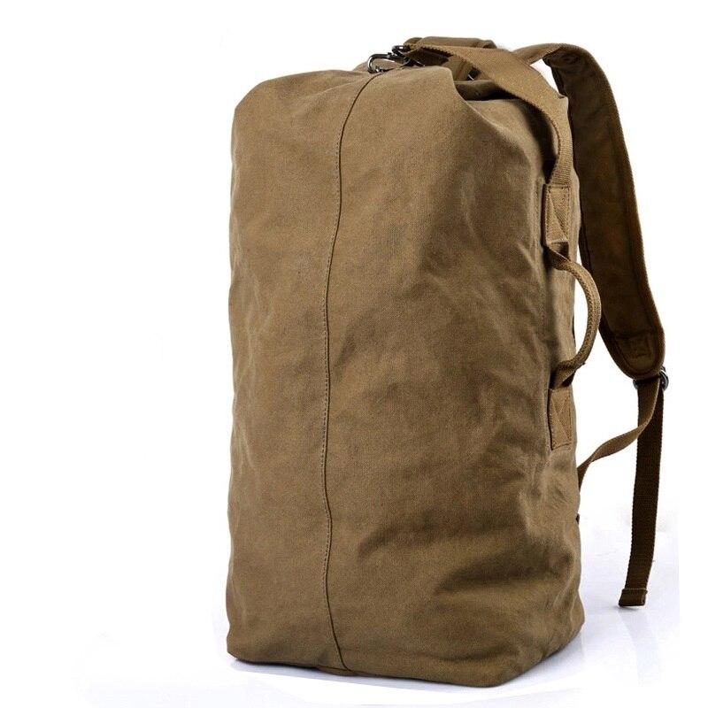 DB26 Hot!! Pure Cotton Canvas Backpacks Large Backpack Duffel Bags Bucket Bags Custom Back pack School Rucksacks Mochila Escolar