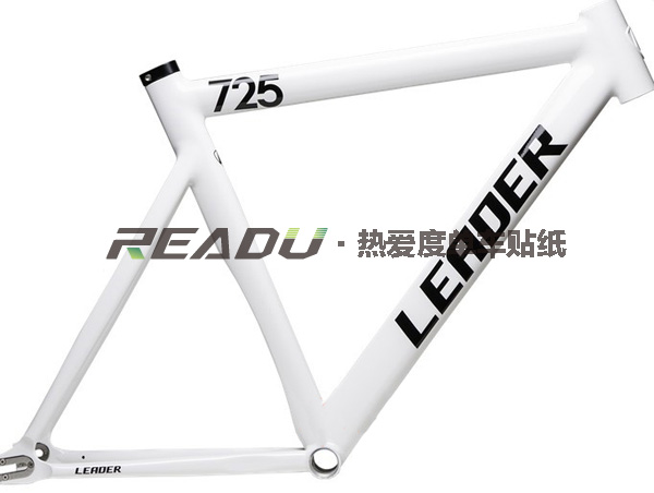 Dead wheel bike 725/735 frame stickers Change the color of the ...