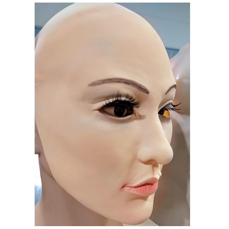 Realistico Maschera di Pelle Umana Travestimento Auto Maschere In Lattice di Orrore Spaventoso Maschera di halloween mascara de lattice realista maske silicone