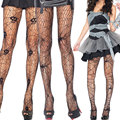 Halloween Gift Skull Spider Web Net Pantyhose Stockings for Women Adult Halloween Costume Hosiery H9
