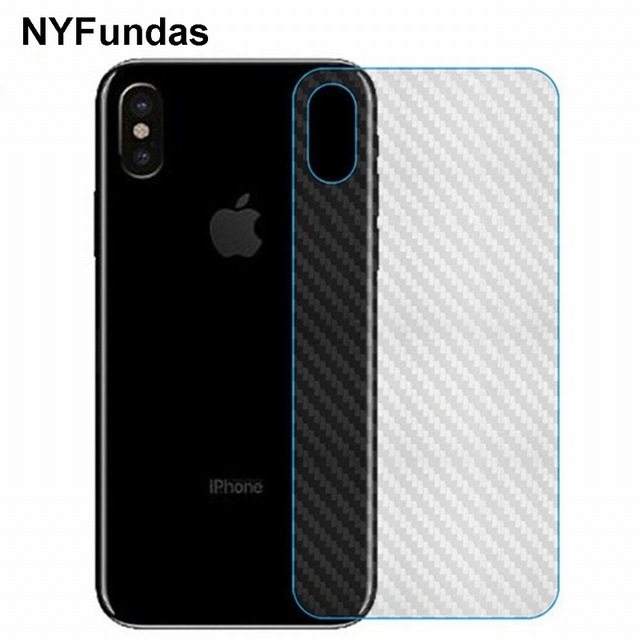 Nyfundas 10pcs carbon fiber protector back film sticker for apple iphone x 8 plus 7 6