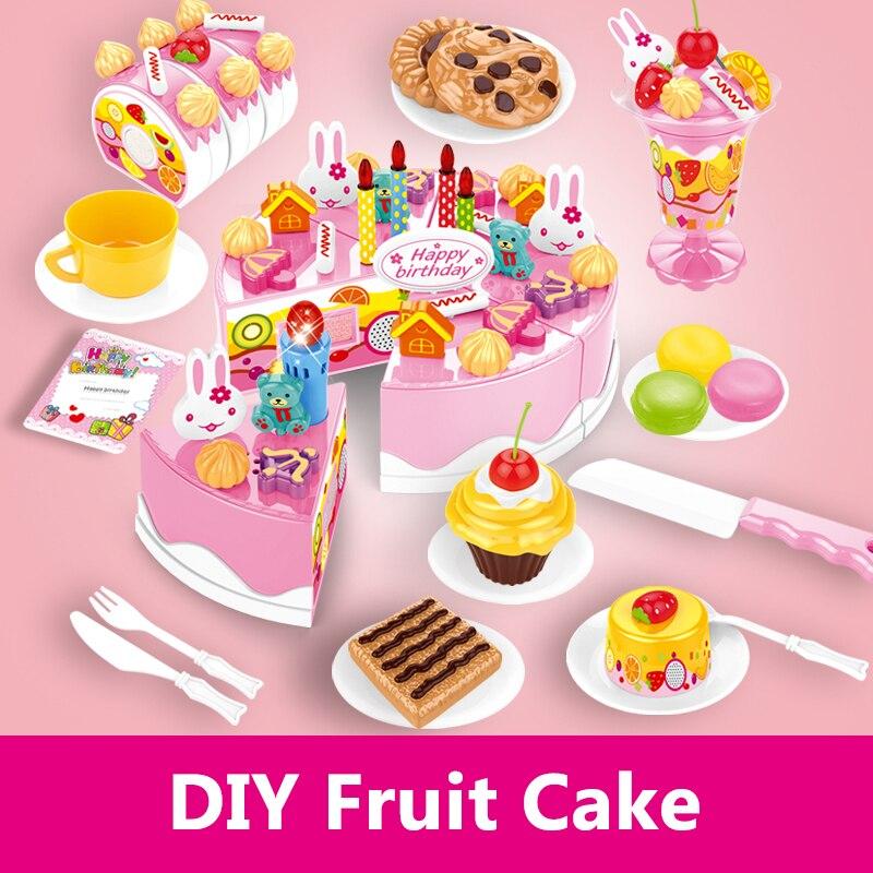 82 Stücke Kinder Küche Spielzeug Kunststoff Kuchen Lebensmittel Schneiden  Pretend Spielen Spielzeug Lebensmittel Küche Spielzeug Für Mädchen  Miniature Küche ...