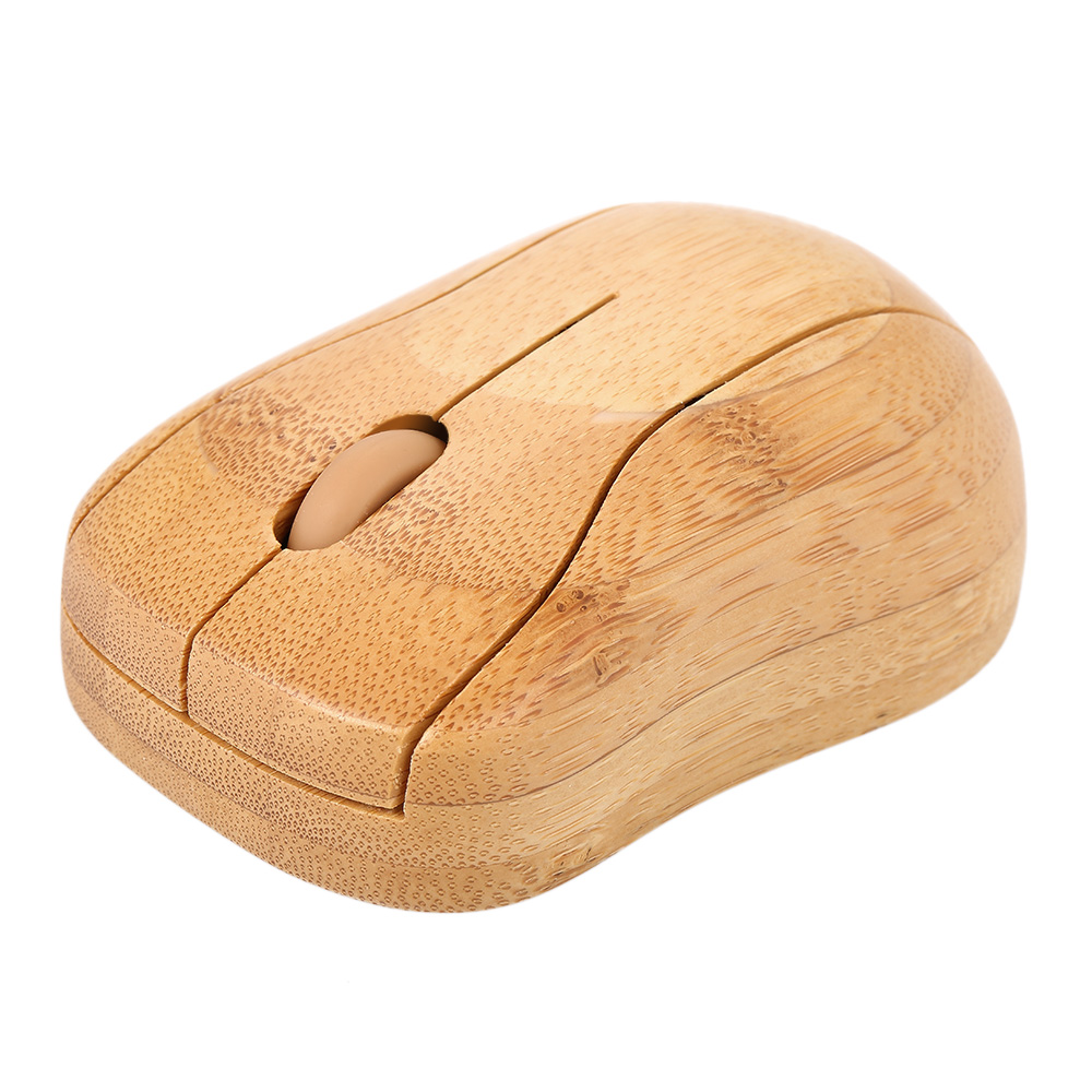 2.4G Wireless Optical Bamboo Mouse 3 Adjustable DPI Computer Mouse With USB Receiver For Notebook PC Laptop Computer Office Use