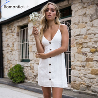 Brand Sexy Hollow Out Bow Tie Back V Veck Sleeveless Dress Women Blackless Package Hips Mini Short Sling Button Beach Dresses