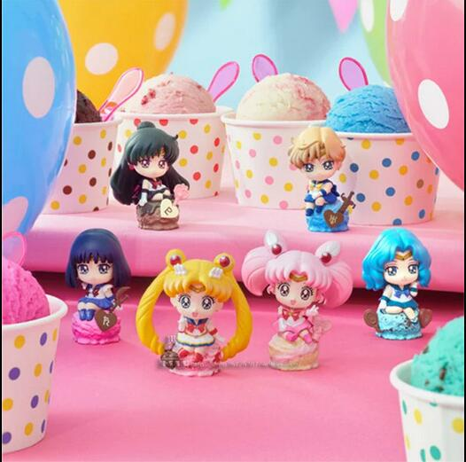 6pcs/set Sailor Moon Action Figure PVC Collection Model toys brinquedos for christmas gift free shipping original box sonic the hedgehog vivid nendoroid series pvc action figure collection pvc model children kids toys free shipping