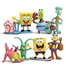 10 видов стилей каваи Патрик звезда Губка Боб модель рука делать Фигурки игрушки кукла Губка Боб виниловая Кукла Классические игрушки для ребенка подарок
