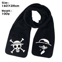 Anime One Piece Luffy Straw Hat Trafalgar D Water Law Death Winter Unisex Warm Shawl Scarf Soft Wrap Gift Costume Accessories