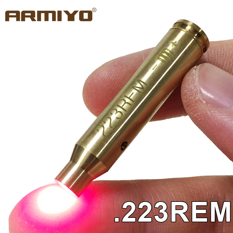 Armiyo .223Cal 223REM 5.56mm Cartridge Gun Bore Sight Boresight Rifle Tactical Red Dot Laser Hunting Accessories No Batteries