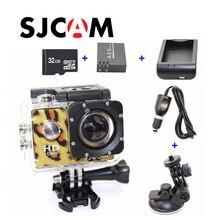Бесплатная доставка!! Оригинал SJCAM SJ4000 Действий Камеры + Автомобильное Зарядное Устройство + Держатель + Зарядное Устройство + Дополнительный аккумулятор + 32 ГБ TF Карта для DVCamera