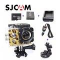 Frete grátis!! Original SJCAM SJ4000 Action Camera + Carregador de Carro + Suporte + Carregador de Bateria + bateria Extra + 32 GB Cartão TF para DVCamera
