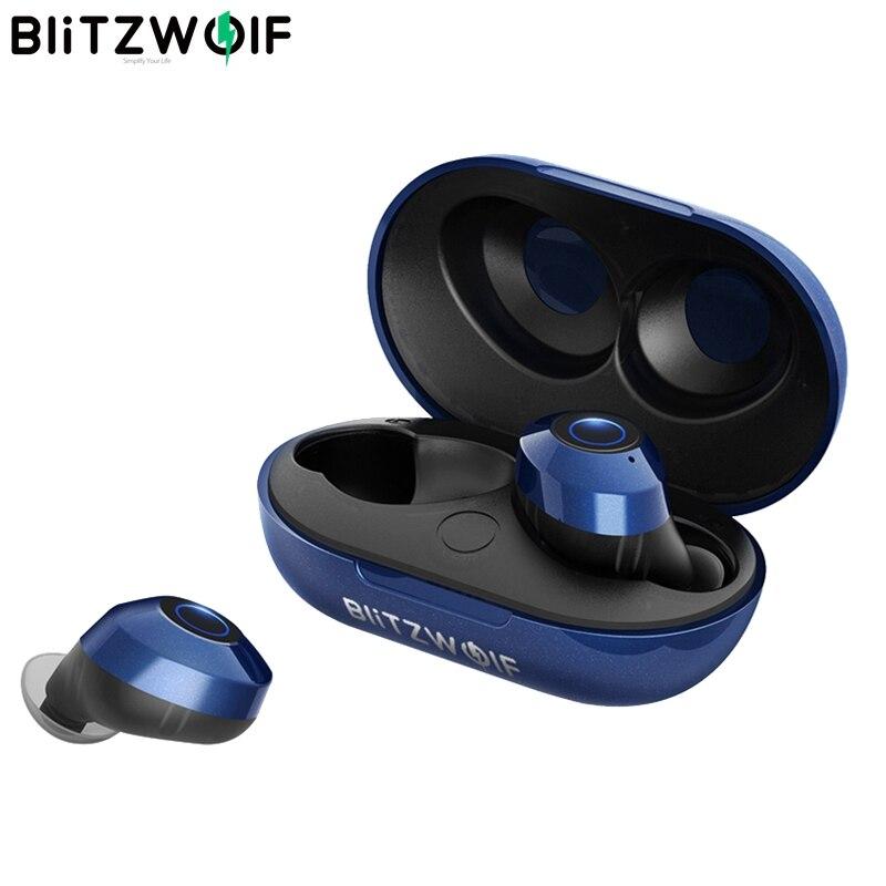 Blitzwolf BW-FYE5 bluetooth Sans Fil Vrai Écouteur TWS oreillettes bluetooth V5.0 10 M Connexion Stéréo Écouteurs IPX6 Étanche