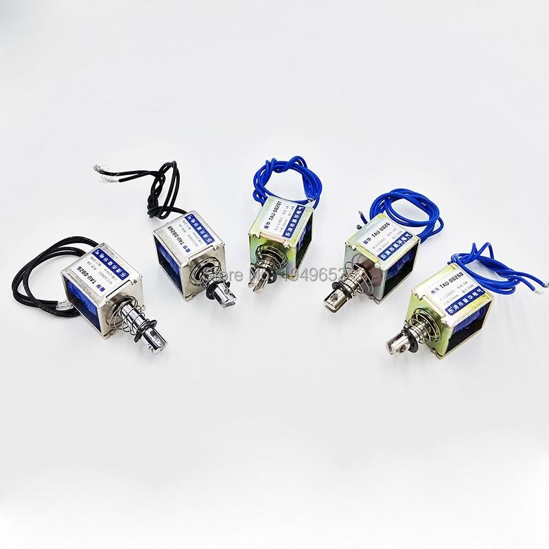 TAU-0826 DC 6V/12V24V Keeping Force 16N/20N Pull&Push Type Linear Solenoid Electromagnet travel 10mm  цены