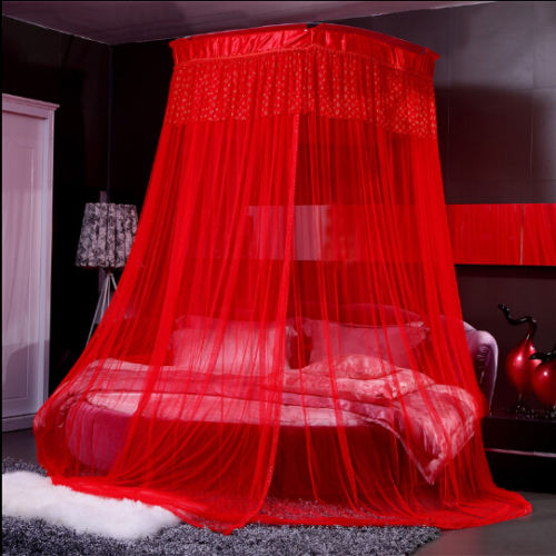 Red Romantic Wedding Mosquito Nets Dome Canopy Bed Curtain Fit All Bed Size   In Mosquito Net From Home U0026 Garden On Aliexpress.com | Alibaba Group