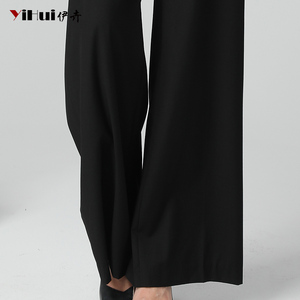 Image 5 - Newest Office Ladies High Waist Full Length Straight Pants Women Trousers Pocket Zipper Fly Plus Size 4XL Black Soft Flat Pants