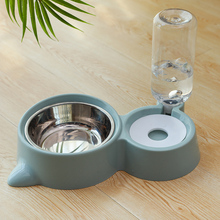 Pet Feeder Automatic Drinking Water and Double Bowl Cat  Dogs Drink Bottle