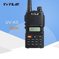 (6 шт.) черный KSUN корпус радиостанции UV K5 двухдиапазонный УКВ 400 520 мГц FM радио двухстороннее радио портативная рация
