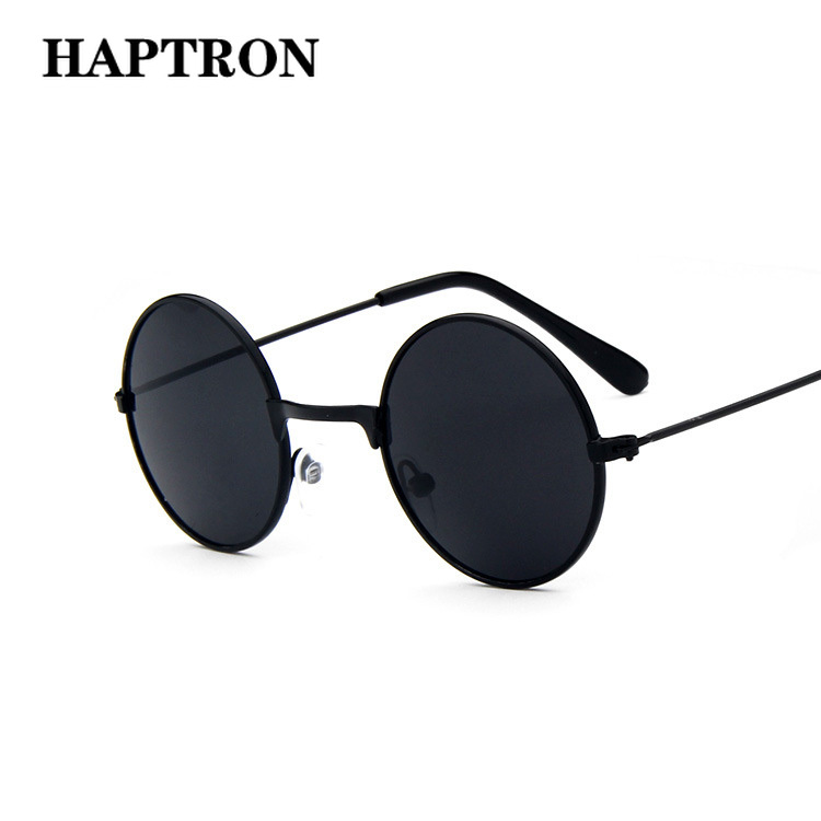 HAPTRON cool Retro Black Blue Round Kids Sunglasses Brand little girl/boy Baby Child Glasses goggles oculos UV400 Small face(China)