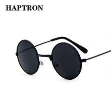 HAPTRON cool Retro Black Blue Round Kids Sunglasses Brand li