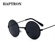 HAPTRON cool Retro Black Blue Round Kids Sunglasses Brand little girl/boy Baby Child Glasses goggles oculos UV400 Small face