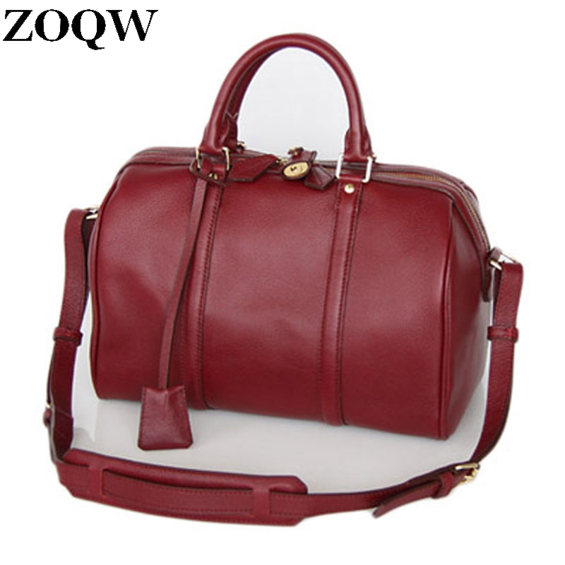 Women Famous Brand Bags 2017 New Genuine Leather Bags European Fashion Vintage Shoulder Bag Lady Bolsa Feminina Hot Sale LX704