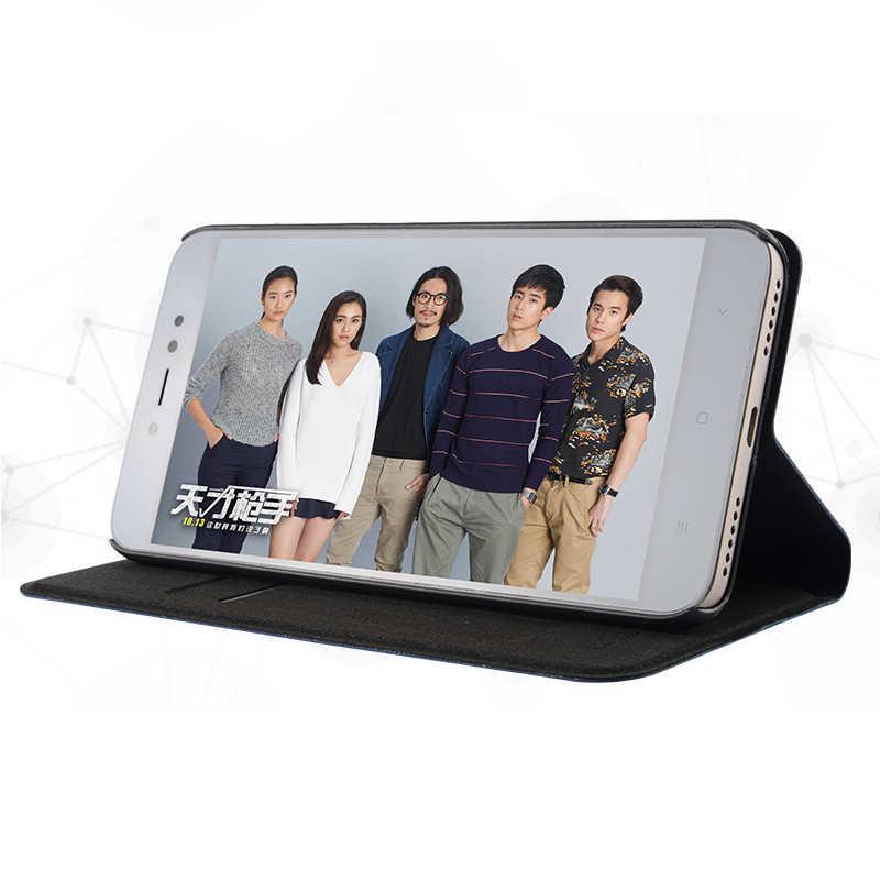 Dành cho Xiaomi Redmi 7 7A 4 6 K20 Pro 4A 4X 5A 6A S2 Redmi Note 8 7 5 6 pro 4 4X 5A 3 Ốp Lưng dành cho Redmi 5 Plus Flip Cover khe cắm thẻ đứng
