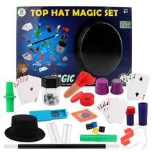 Волшебная Шляпа, магический набор, 150 фокусов, детские игрушки для игр, иллюзии, Детская Магическая игрушка крупным планом, Подарочная короб...