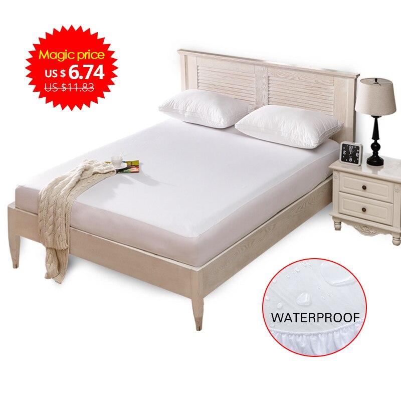 Suave impermeable cubierta del Protector del colchón para la cama mojando transpirable hipoalergénico protección Anti-ácaro
