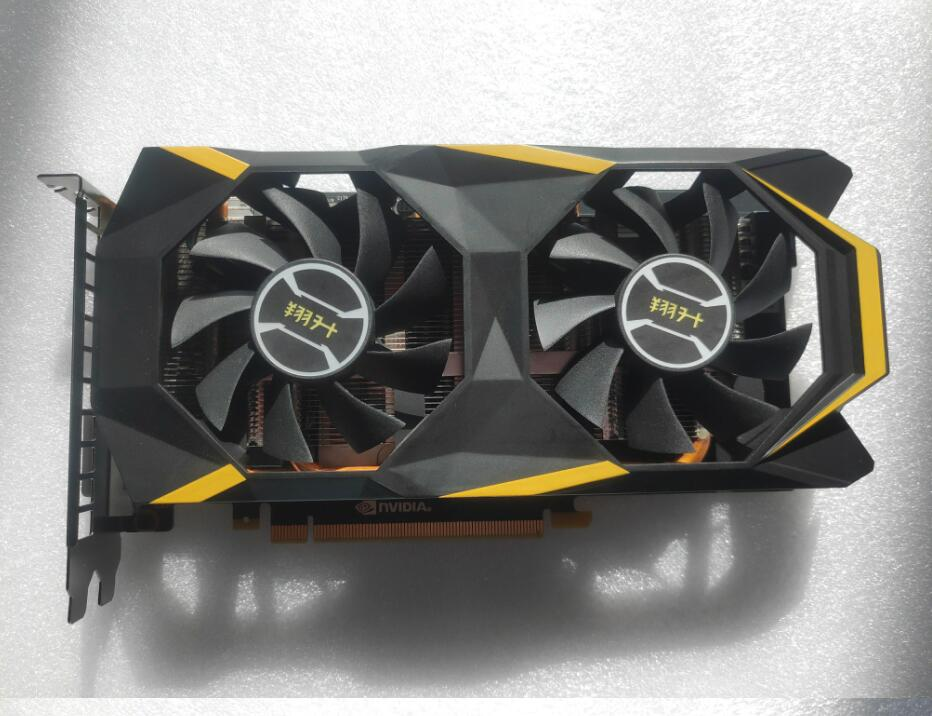 Graphics Card Used ASL GTX1660TI 6G DDR6 192bit Desktop Computer Game Office For NVIDIA Geforce GTX 1660TI  Hdmi Dvi