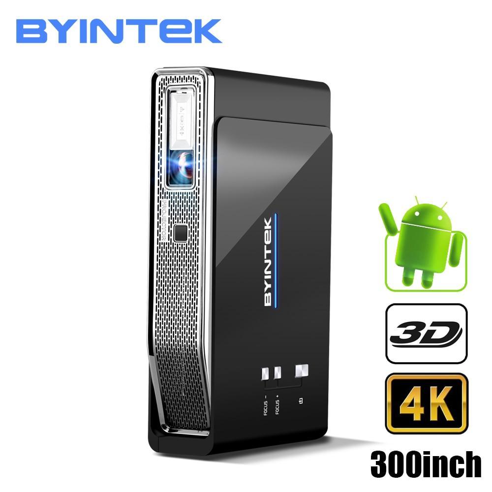 BYINTEK НЛО R15 Smart Android WI-FI видео дома Театр светодиодный Портативный лазерной USB Mini HD DLP 3D проектор для Full HD 1080 P HDMI 4 K