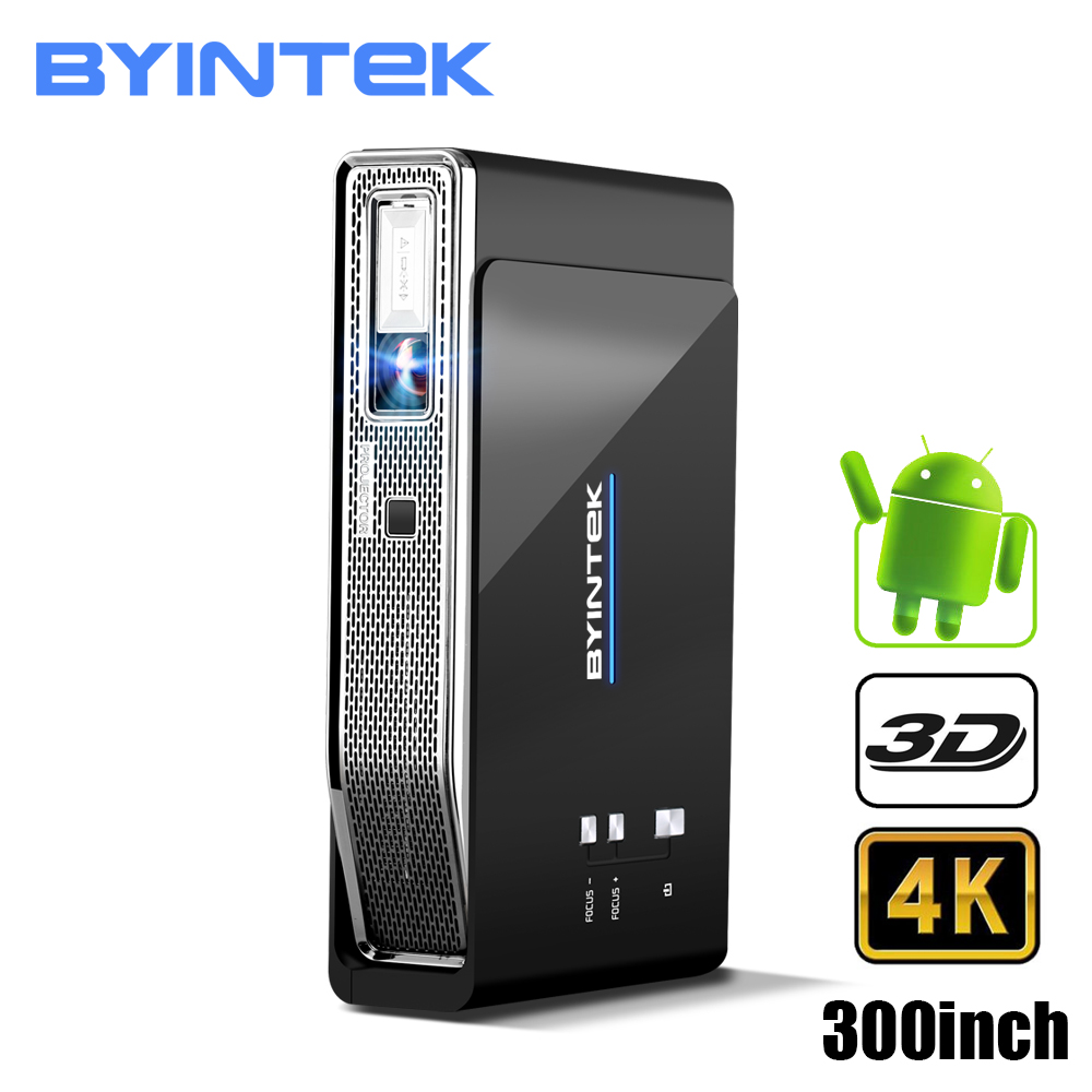 BYINTEK UFO R15 Intelligent Android WIFI Vidéo Home Cinéma LED Portable lAsEr USB Mini HD DLP 3D Projecteur pour Plein HD 1080 p HDMI 4 k