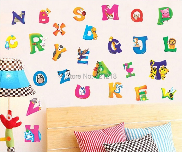 alphabet wall sticker for children kids room decorative relax time vinyl wall stickers for kids rooms children