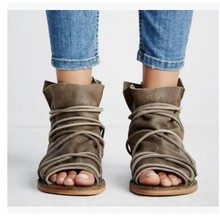 Lady Sexy Party Gladiator Bohemia Andals Shoes Plus Size 34-43 Women Summer Flat