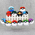 1pcs 12color poke ball plush pokeball keychain keyring pendant Babe Ball Pikachu Accessory Toy