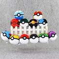 1pcs 12color poke ball plush pokeball keychain keyring pendant Babe Ball Pikachu Accessory Toy